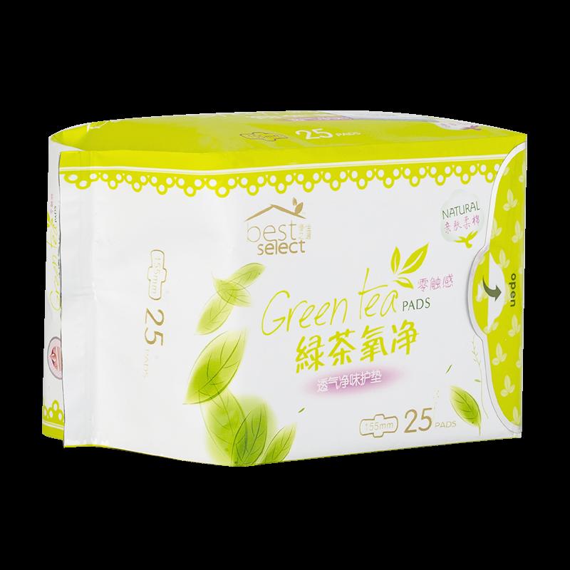 绿茶氧净透气净味-零触感护垫
